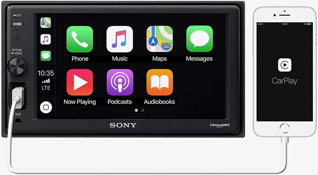 Sony XAV-AX1000 Apple CarPlay Media Receiver with BLUETOOTH